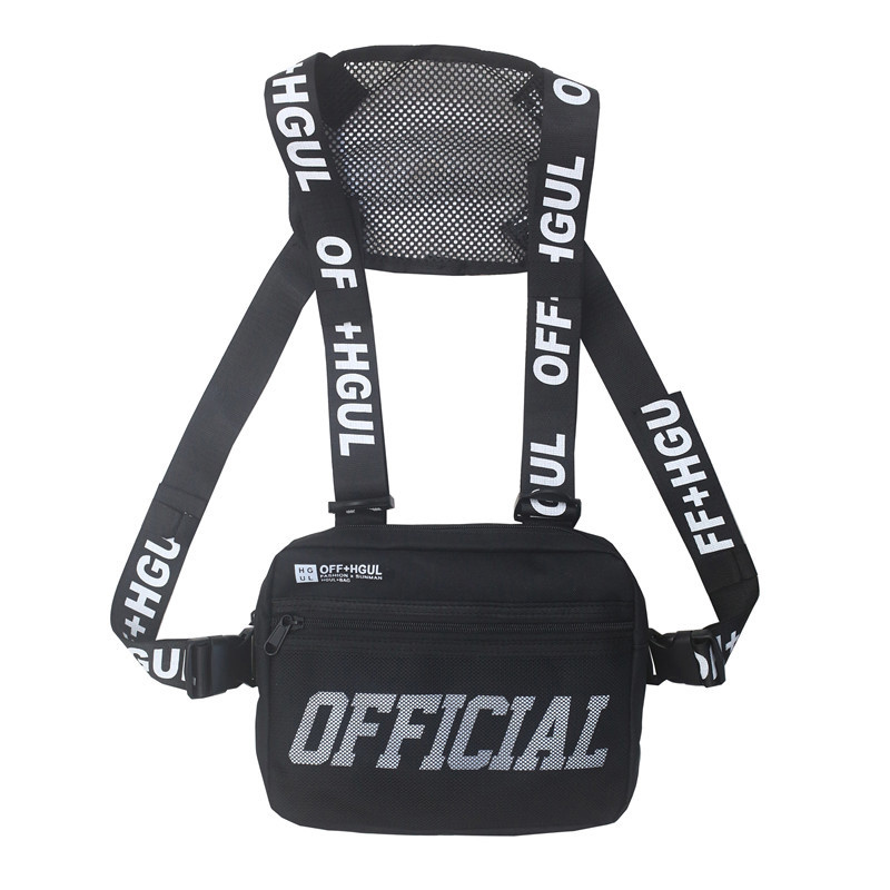 Men Chest Rig Hip Hop Functional Chest Bag Cross Shoulder Bag Adjustable Tactical Vest Streetwear Bags Kanye Waist Pack Hot Sale