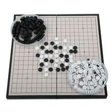 Criança adulto portátil dobrável magnético ir jogo conjunto de placa com único convexo magnético plástico pedras conjunto inteligência de diversões brinquedo