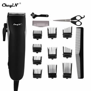 Image 1 - מקצועי בארבר שיער גוזם עוצמה חשמלי שיער גוזז שיער חותך גברים שיער מכונת חיתוך מספריים גזירה מסרק גבול