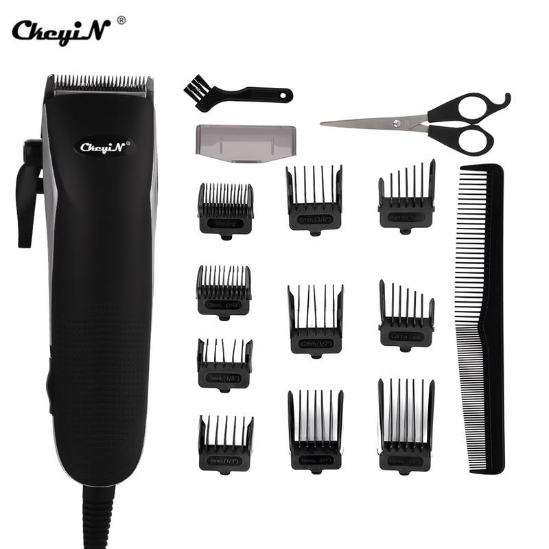Professional Barber Hair Trimmer Powerful Electric Hair Clipper Hair Cutter Men Hair Cutting Machine Scissor Shear Limit Comb