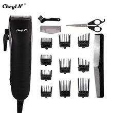 Profissional barbeiro aparador de cabelo poderoso elétrica máquina de cortar cabelo cortador de cabelo homens máquina de corte de tesoura limite pente