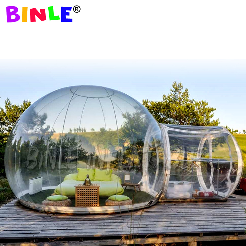 Clear Inflatable Bubble Tent With Steel Structure,pvc Outdoor Air Camping Tree Lodge Transparent House Crystal Bubble Dome Tent