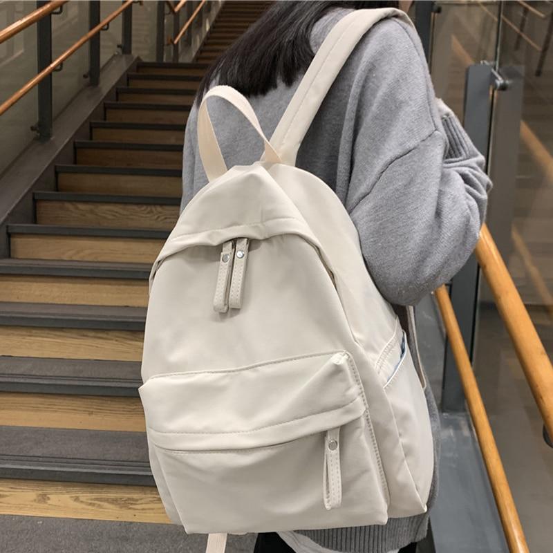 Waterproof Nylon Women Backpack Female Fashion Leisure School Bag Backpacks For Teenage Girls Travel Backpack Mochila Book Bags