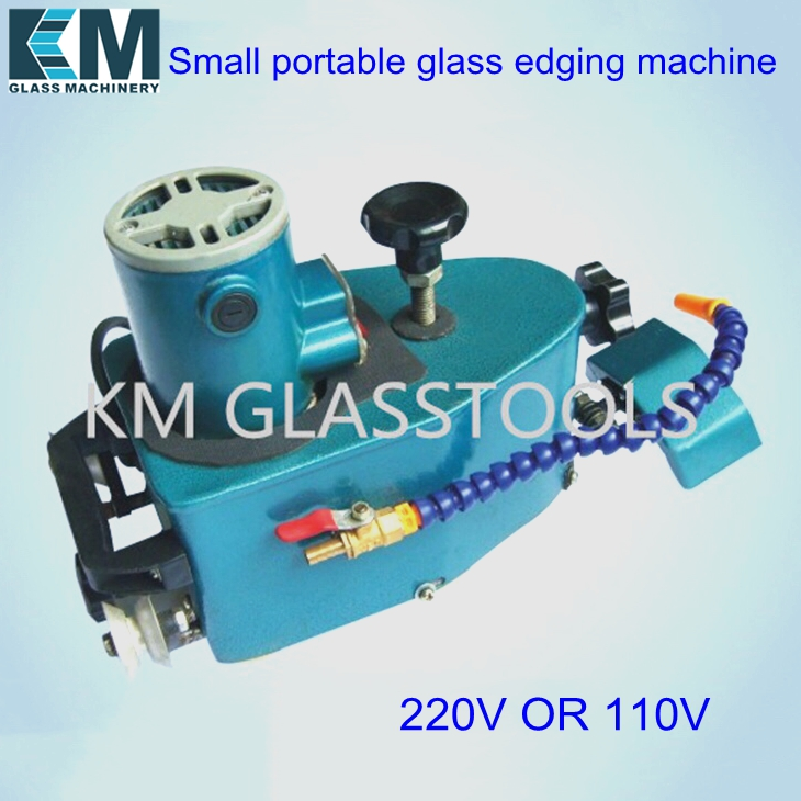 Small portable glass edging machine Grinding straight edge round edge tile acrylic crystal and plexiglass