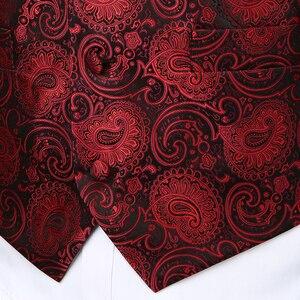 Image 2 - 3pc Sets/Mens Suit Vest+Tie+Pocket Square/Fashion Jacquard Paisley Tuxedo Vest Waistcoat Men/Wedding Vest/Prom Vest/Party Vest