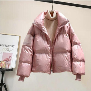 Image 4 - RICORIT Women Down Jacket Down Cotton Loose Clothes Down Coat Female White Duck Down Jacket Winter Waterproof Overcoat