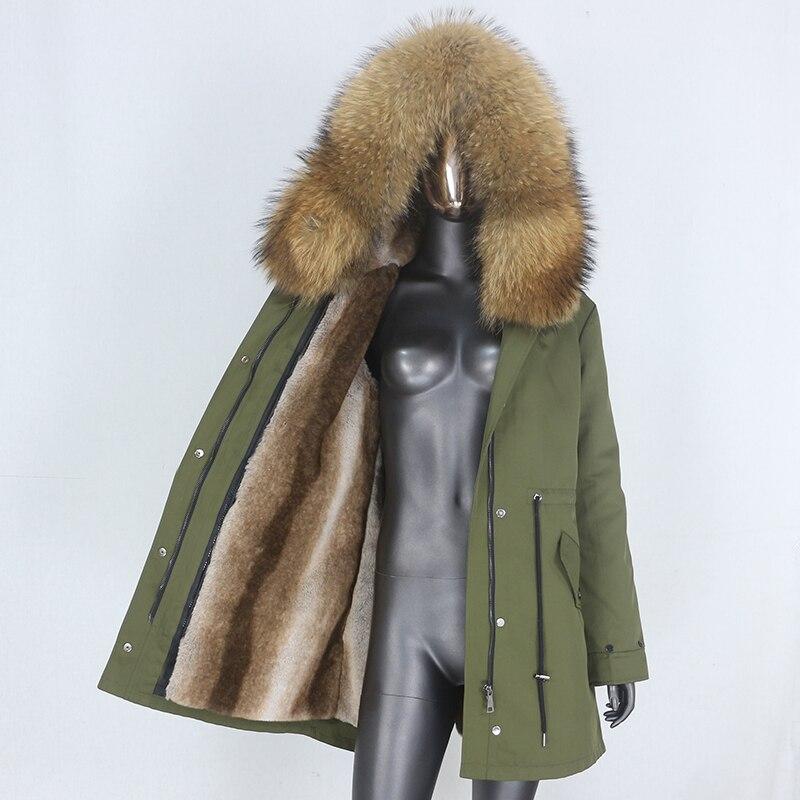 H4cba934d7c524661bfe54e537066f14au CXFS 2021 New Long Waterproof Parka Winter Jacket Women Real Fur Coat Natural Raccoon Fur Hood Thick Warm Streetwear Removable