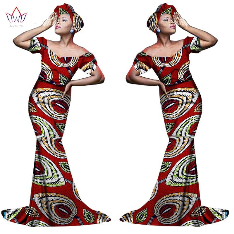 Африканский хлопчатобумажный материал Платья Для Женщин Дашики традиционная Анкара Мода Африка одежда с коротким рукавом Анкара платья WY963 - Цвет: 26