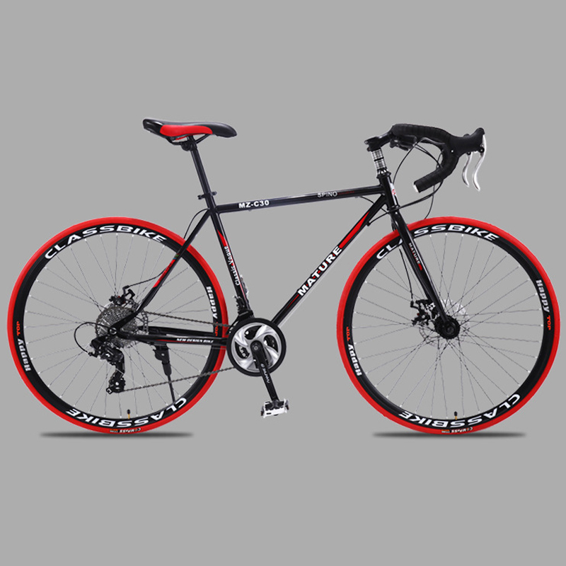 Adult Bicycle Road-Bike Double-Disc-Brake Aluminum-Alloy 700c Ultra-Light Variable-Speed