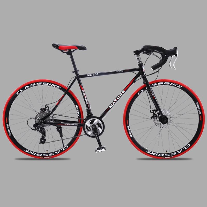 700c road bike 21 27 and 30 variable speed double disc brake ultra light Aluminum alloy Innrech Market.com