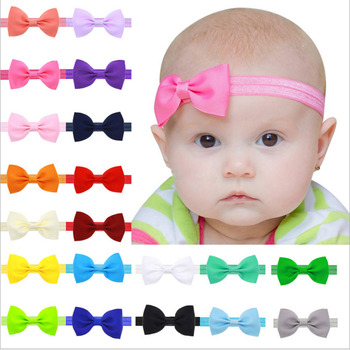 Cute Lace Flower Kids Baby Boy Girls Toddler Headband Unisex Solid Bowknot Hair Band Elastic Nylon Stylish Headwear Accessories stylish lace embellished bowknot t back for women