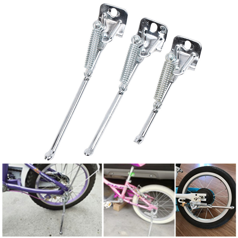 1pc bicycle brace Kickstand for children bike 12//14//16 inches carbon steel skTEU