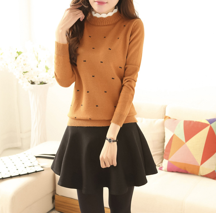 Gray Color Long Sleeve Boat Neck Slim Knitted Pullovers Top Femme Pull Tight Shirts Jumper  Color