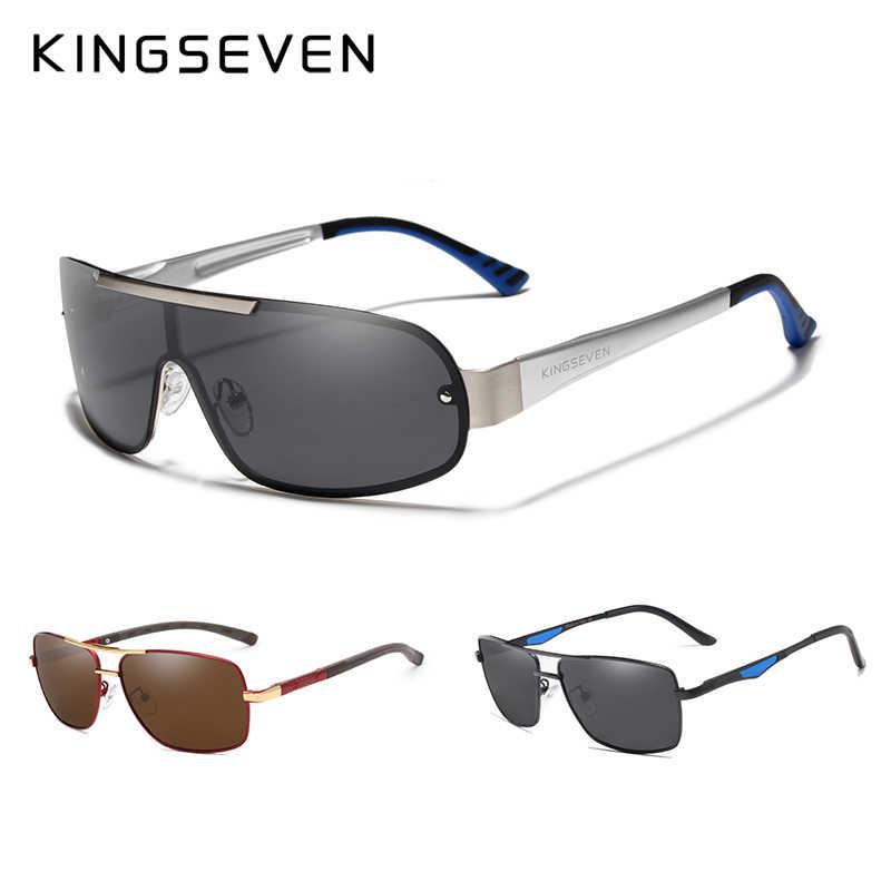 3 шт., комбинированная распродажа, KINGSEVEN, фирменный дизайн, серебристая оправа, солнцезащитные очки для мужчин, поляризационные, с УФ-защитой, Oculos De Sol
