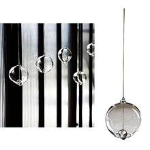 Campana de campana de viento de vidrio tradicional japonés, adorno de diseño Simple (transparente)