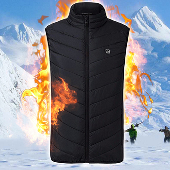 Heating Vest Washable Usb Charging Heating Warm Vest Control Temperature Outdoor Camping Hiking Golf Electric Thermal Clothing 2