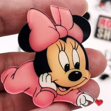 1PCS Cute Baby Minnie Icon Brooch Acrylic Mickey Daisy Icon Badge High Quality Pin For Girls Boys Gifts Decoration On Bag Hat(China)