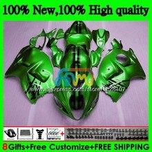 GSXR 1300 для SUZUKI Hayabusa GSXR-1300 2002 2003 2004 2005 2006 2007 49BS. 136 GSXR1300 96 02 03 04 05 06 07 обтекателя глянцевый зеленый