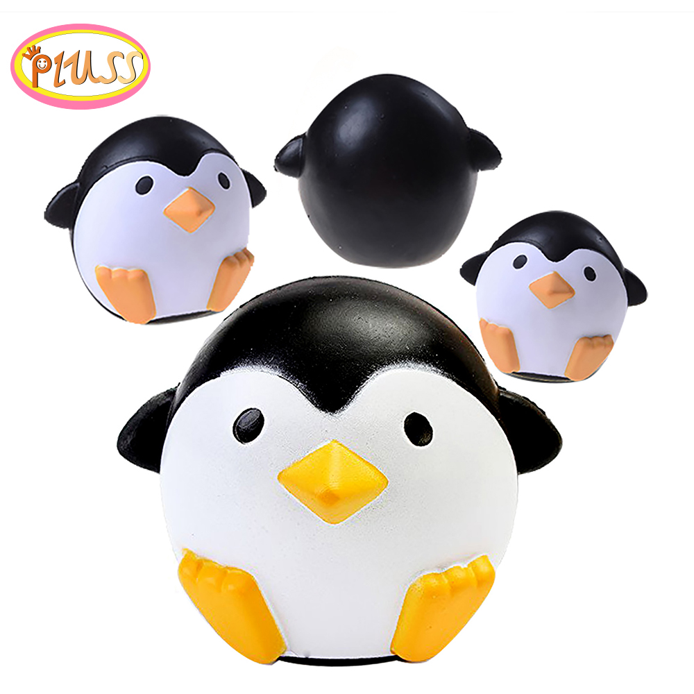 Black And White Penguins Squishy Slow Rising PU Foam Toys Decompression Toy  Cream Scented Collections Kids Gifts