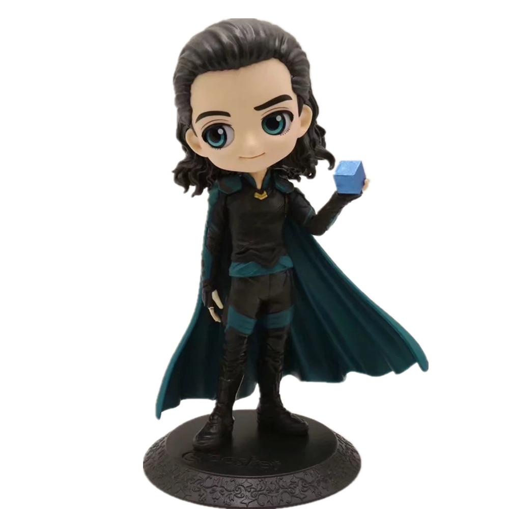 Avengers 4 Endgame Loki  Q.Ver PVC Action Figures Toys Avengers Endgame Anime Movie Loki Figurine Toy Doll Gift