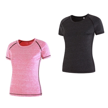 Damska koszulka sportowa z krótkim rękawem elastyczne luźne t-shirty wygodne joga Fitness Running koszulka sportowa damska odzież sportowa tanie i dobre opinie WOMEN Poliester Pasuje prawda na wymiar weź swój normalny rozmiar Wiosna summer AUTUMN