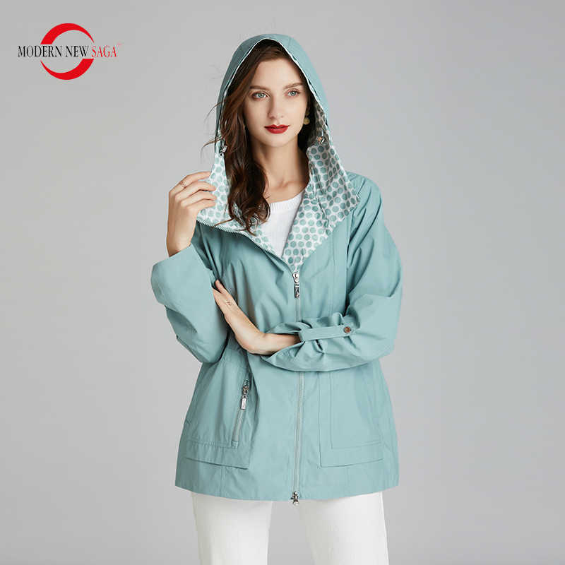 Moderne Nieuwe Saga 2020 Vrouwen Jas Hooded Lente Vrouwen Jas Mode Jassen Vrouwen Herfst Casual Vrouw Jas Rits Russische Stijl