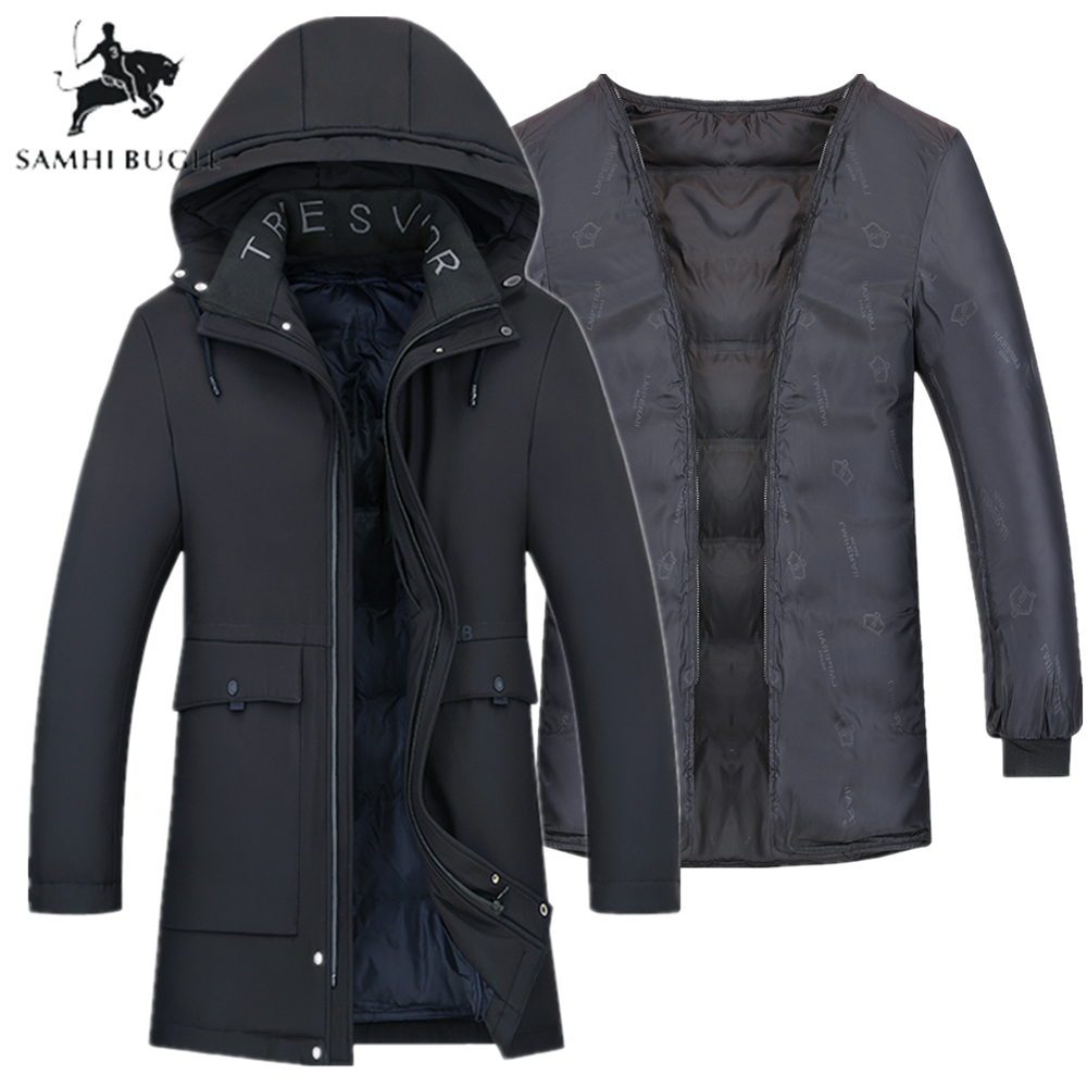Winter Jacket Men 2020 Cotton Padded Warm Parka Coat Military Casual Hooded Mide-Long Male Down Jacket Windbreaker Men