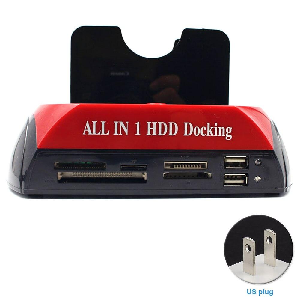 USB 3,0 HDD корпус с устройство для чтения карт памяти слот станция Держатель HDD док Все в одном основании для IDE \ SATA жесткого диска USB-хабы      АлиЭкспресс