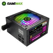 GameMAX – alimentation pour ordinateur, boîtier PC, RGB PSU, 800W, Semi-modulaire, 80 Plus, couleur Bronze, ATX