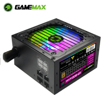 Gamemax Rgb 800W Psu Pc Voeding Stille 120Mm Rgb Fan 80 Plus Brons Semi Modulaire Atx Gaming desktop Computer Voeding
