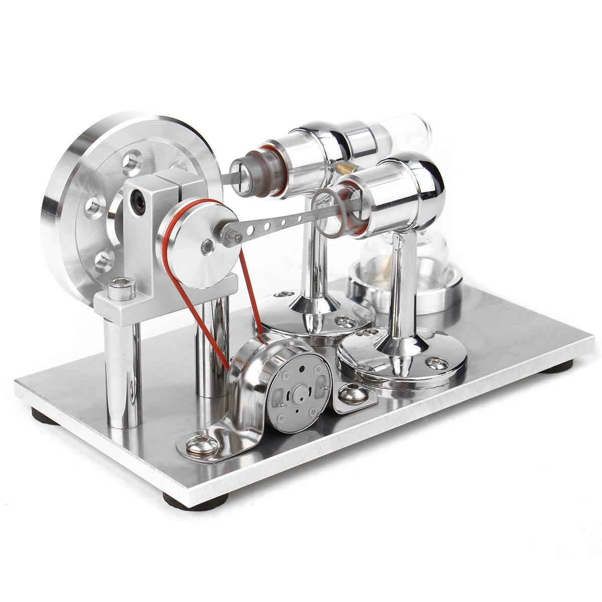 Модель двигателя с горячим воздухом для физики, генератор мощности, образовательный паровой двигатель, игрушка, набор для научных эксперим...
