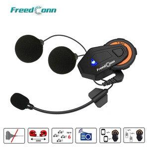 Image 1 - Freedconn t max intercomunicador de motocicleta, para capacete, bluetooth, headset, 6 pilotos, grupo de conversação, rádio fm, bluetooth 4.1
