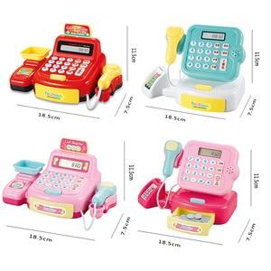 Image 3 - 어린이 척 놀이 슈퍼마켓 금전 등록기는 무게를 스캔 할 수 있습니다 소년과 소녀 시뮬레이션 스캐너 계산기 어린이를위한 플라스틱 장난감