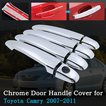 Chrome Car Door Handle Cover for Toyota Camry Daihatsu Altis XV40 2007~2011 Luxury Trim Set Exterior Accessories 2008 2009 2010 image