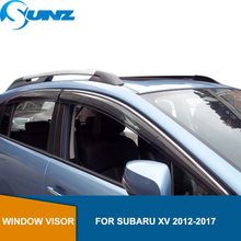 цена на Car Window Deflector Visor For Subaru XV 2012 2013 2014 2015 2016 2017  Winodow Visor Vent Shades Sun Rain Deflector Guard SUNZ