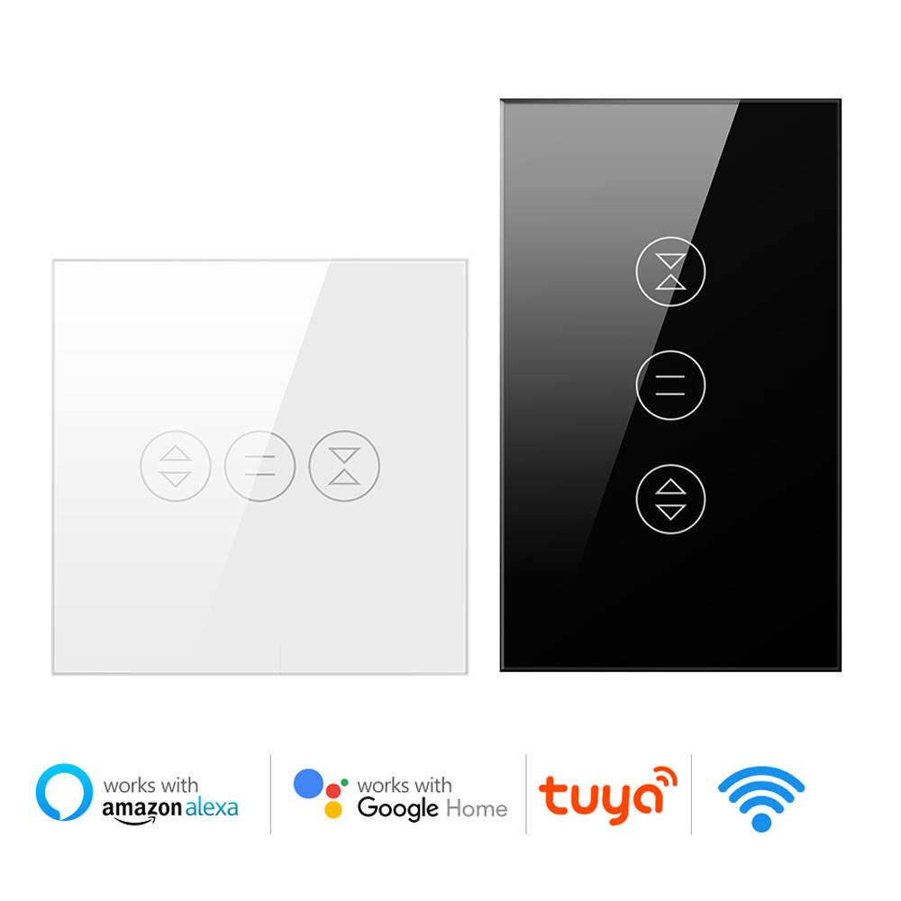 Blinds US/EU Switch Smart Home For Google Assistant WiFi Tuya Curtain Switch For Electric Motorized Roller Shutter