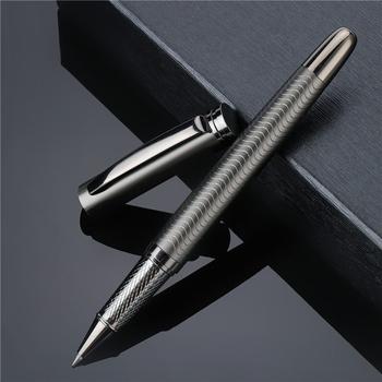 1 PC wysokiej jakości w całości z metalu luksusowe poszycia długopis biznes pisanie podpisanie kaligrafii długopisy biurowe 03733 tanie i dobre opinie noverty CN (pochodzenie) 0 5mm Biuro i szkoła pen