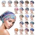 Female Print Cotton Turban Chemo Hat Muslim Double Sided Satin Beanie Head Scarf Hijab Femme Mussulman Turbans Headbands