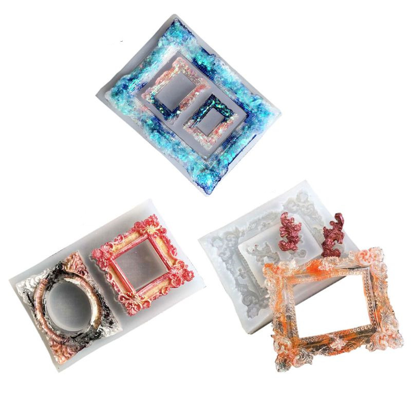 Handmade Photo Frame Resin Mold Silicone Picture Frame Fondant Candy Chocolate Mold Art Craft