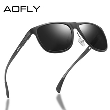 AOFLY Brand 2020 Aluminum Magnesium Polarized Men Sunglasses Vintage Square Metal Frame Male Sun Glasses Driving zonnebril heren