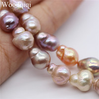 Cultured freshwater peanut pearl twin pearl strand Good luster fine surface gourd shape pink purple white mix color 9 10mm