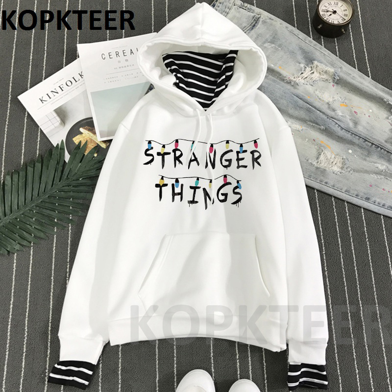 Stranger Things Hoodie Eleven Women Winter Casual Tops Gothic Hoodies Female Hip Pop Femme Clothing Harajuku Funny Movie Clothes