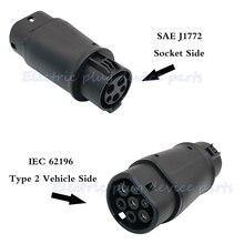 SAE J1772 зарядный адаптер для Tesla S/X Renault Zoe электромобиль EV автомобильное зарядное устройство разъем тип 1 и тип 2