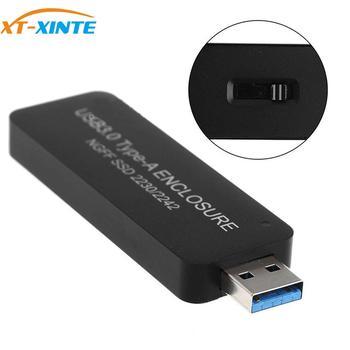 M2 SSD Case USB3.0 to M.2 SSD Enclosure B Key USB Plug & Play for NGFF SATA 2230 2242 HDD Solid State Drive External Mobile Box