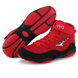 Мужские боксерские туфли для тяжелой атлетики, мужские мягкие дышащие боксерские тренировочные боксерские сапоги для боя, 2020