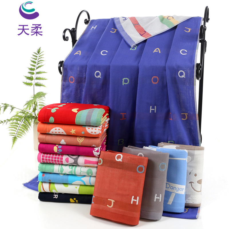 Infant Pure Cotton Large Towel Blanket Autumn And Winter Newborn Children Gauze Bath Towel Baby Water-Absorbing Super Soft Cotto