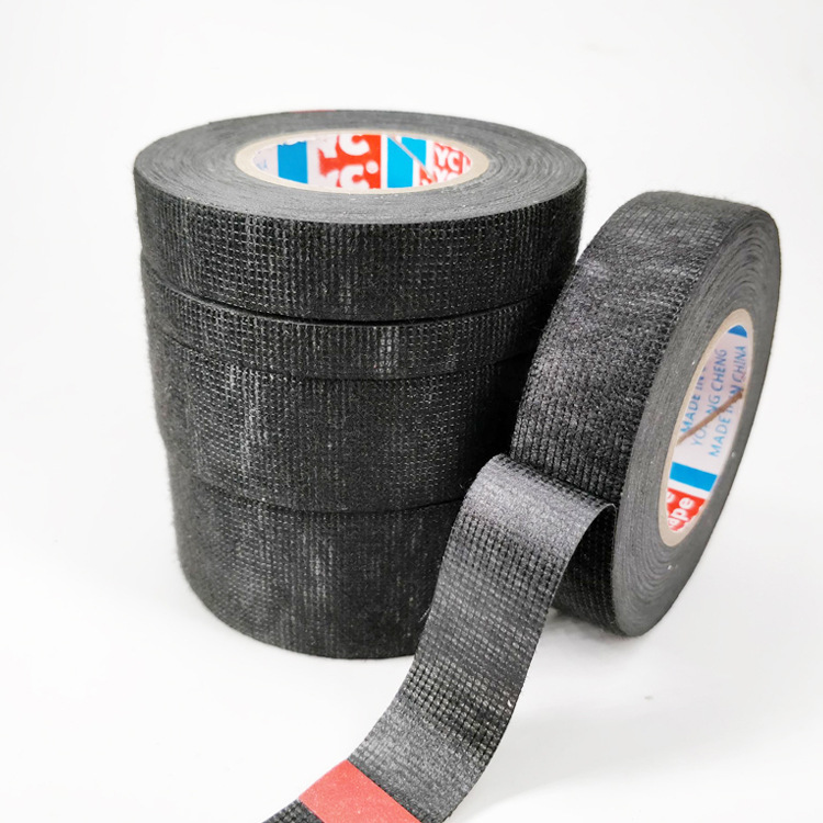 Beam Flannelette Tape High-temperature Resistant Waterproof Black And White With Pattern Adhesive Tape Wire Cable Electrician In