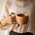 Japanischen Stil Holz Kaffee Becher Tragbare Gummi Holz Tee Milch Tassen Trinken Tassen Drink Becher mit Verbrühschutzgriff Handgemachte Saft Zitrone Handliche Tasse Teetasse Geschenk