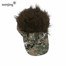 WJ625B, moda ajustable para fanáticos del partido, visera de pelo falso con Estilo negro, gorra de béisbol con aspecto de vig, sombrero de pelo falso