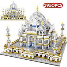 цена Mini Assembling Blocks World Famous Architecture Taj Mahal Model Building Blocks 3950Pcs Bricks Educational Toy for Kids онлайн в 2017 году